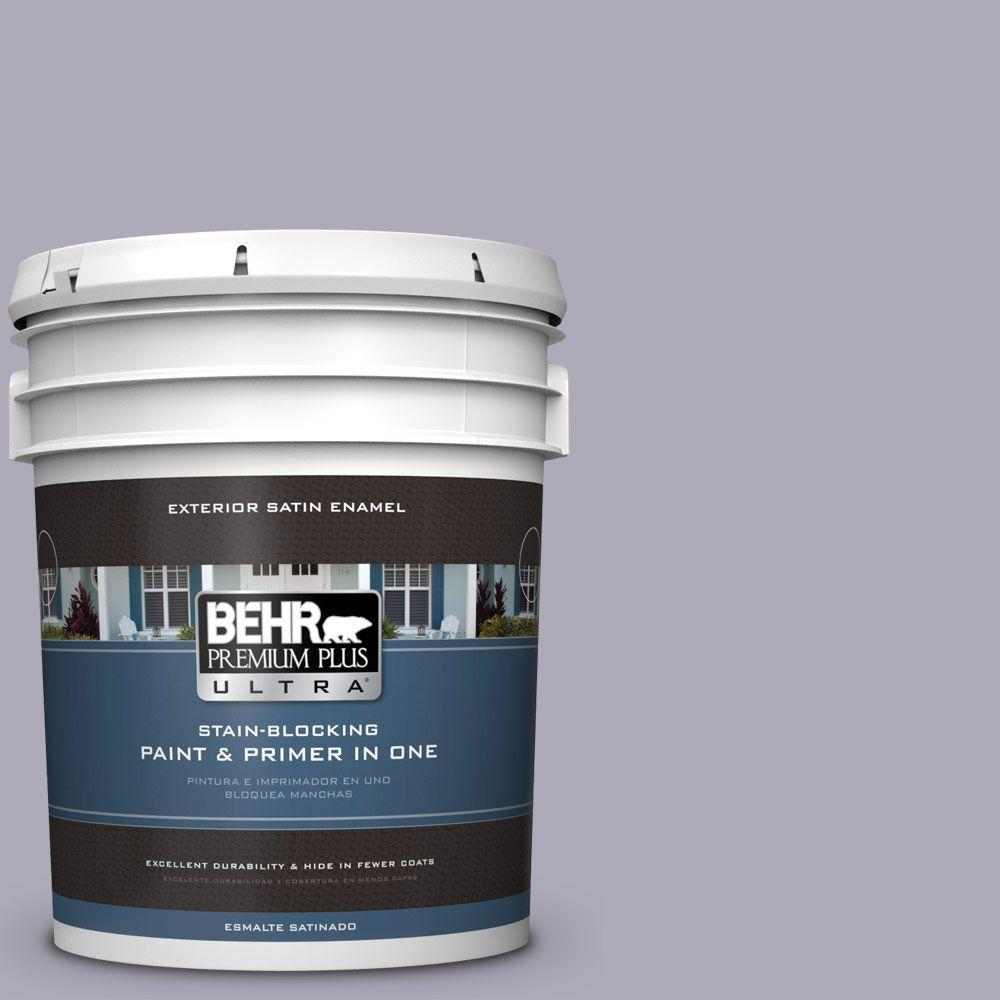 BEHR Premium Plus Ultra 5-gal. #ICC-98 Lilac Bloom Satin Enamel Exterior Paint