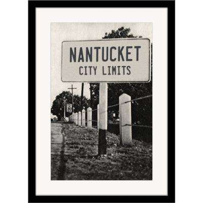 "27 in. x 36 in. ""Nantucket City Limits"" Framed Photographic Print"