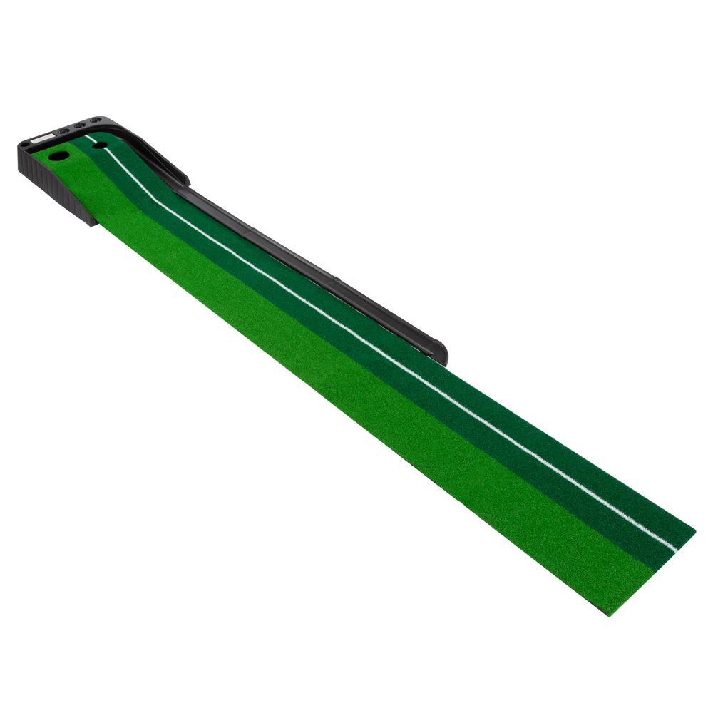 Putting Green Mat with Golf Ball Return
