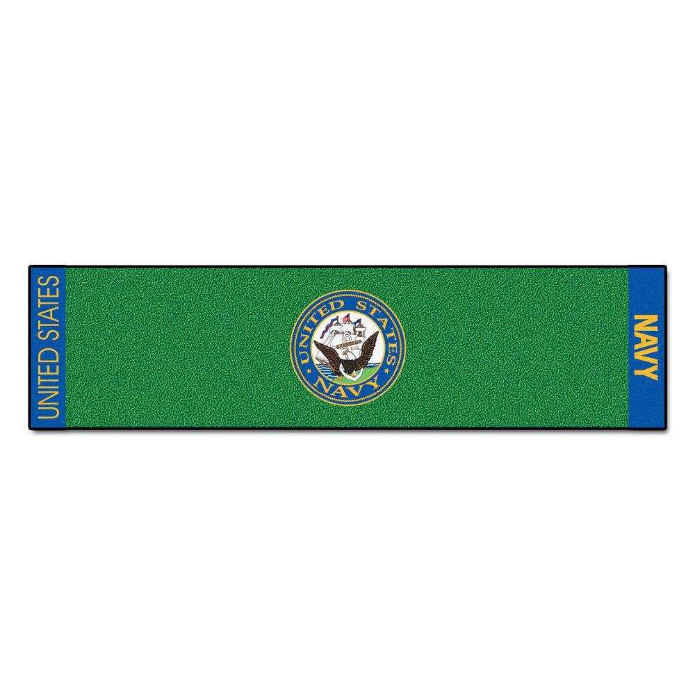 MIL - U.S. Navy Green 1 ft. 6 in. x 6 ft. Indoor/Outdoor Golf Practice Putting Green