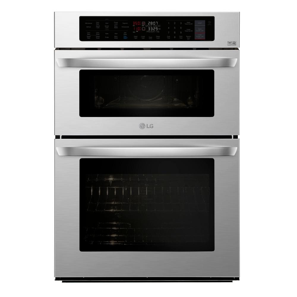 Lg Electronics 30 In Electric Convection And Easyclean Wall Oven With Built Microwave