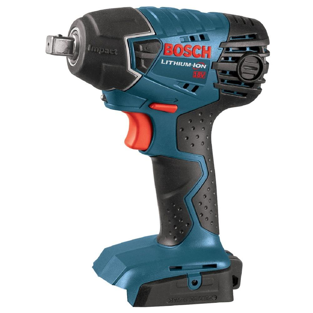 bosch 18 volt lithium ion cordless electric 1 2 in impact wrench with led light tool only. Black Bedroom Furniture Sets. Home Design Ideas