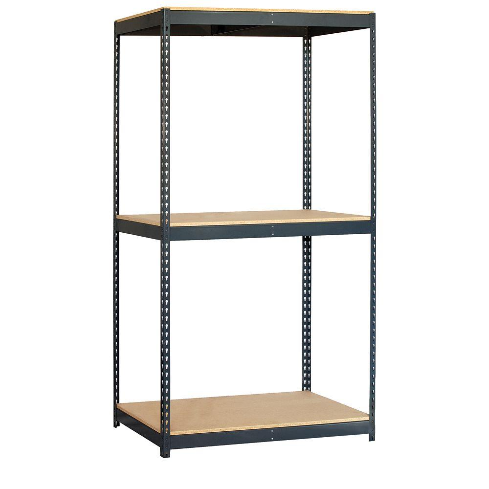 Salsbury Industries 9700 Series 48 in. W x 84 in. H x 24 in. D Heavy Duty Steel and Particleboard Solid Shelving