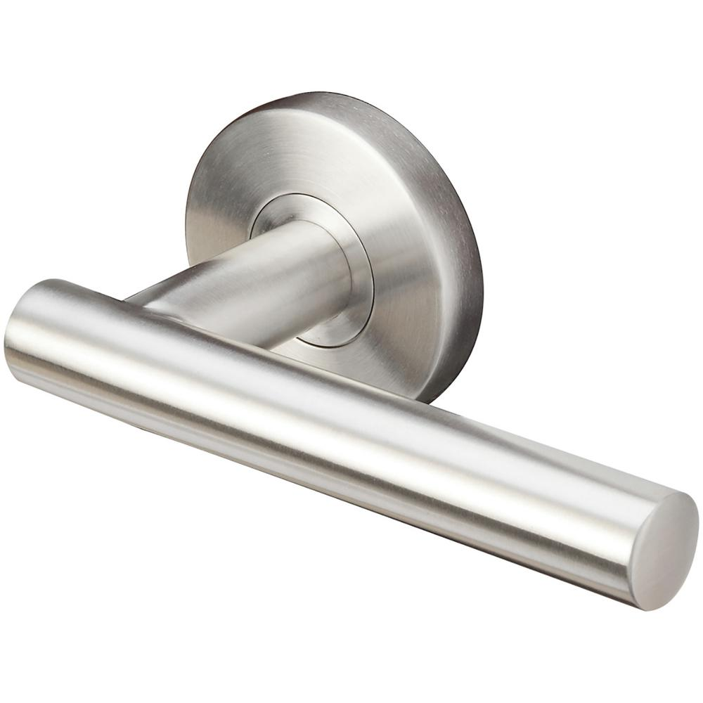 Copenhagen Series Round Satin Stainless Steel Left Handed Single Dummy Door