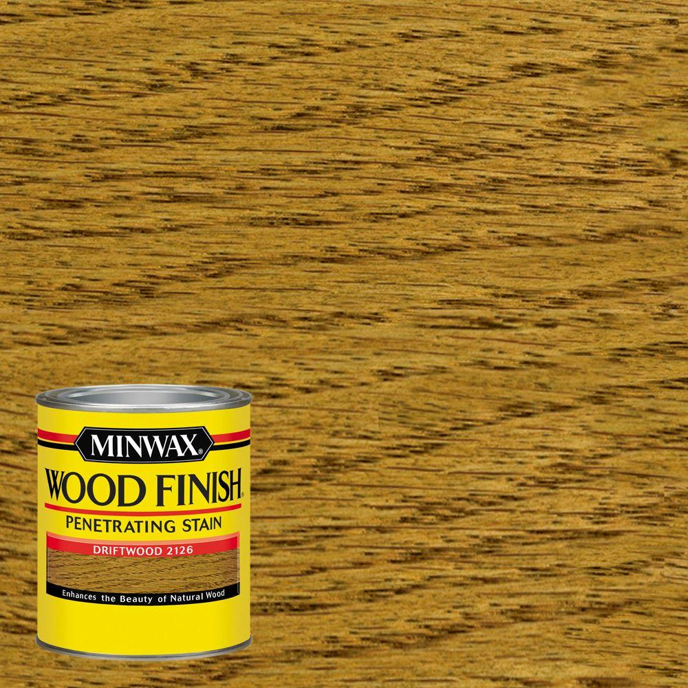 Minwax 1 qt wood finish driftwood oil based interior for Can you stain driftwood
