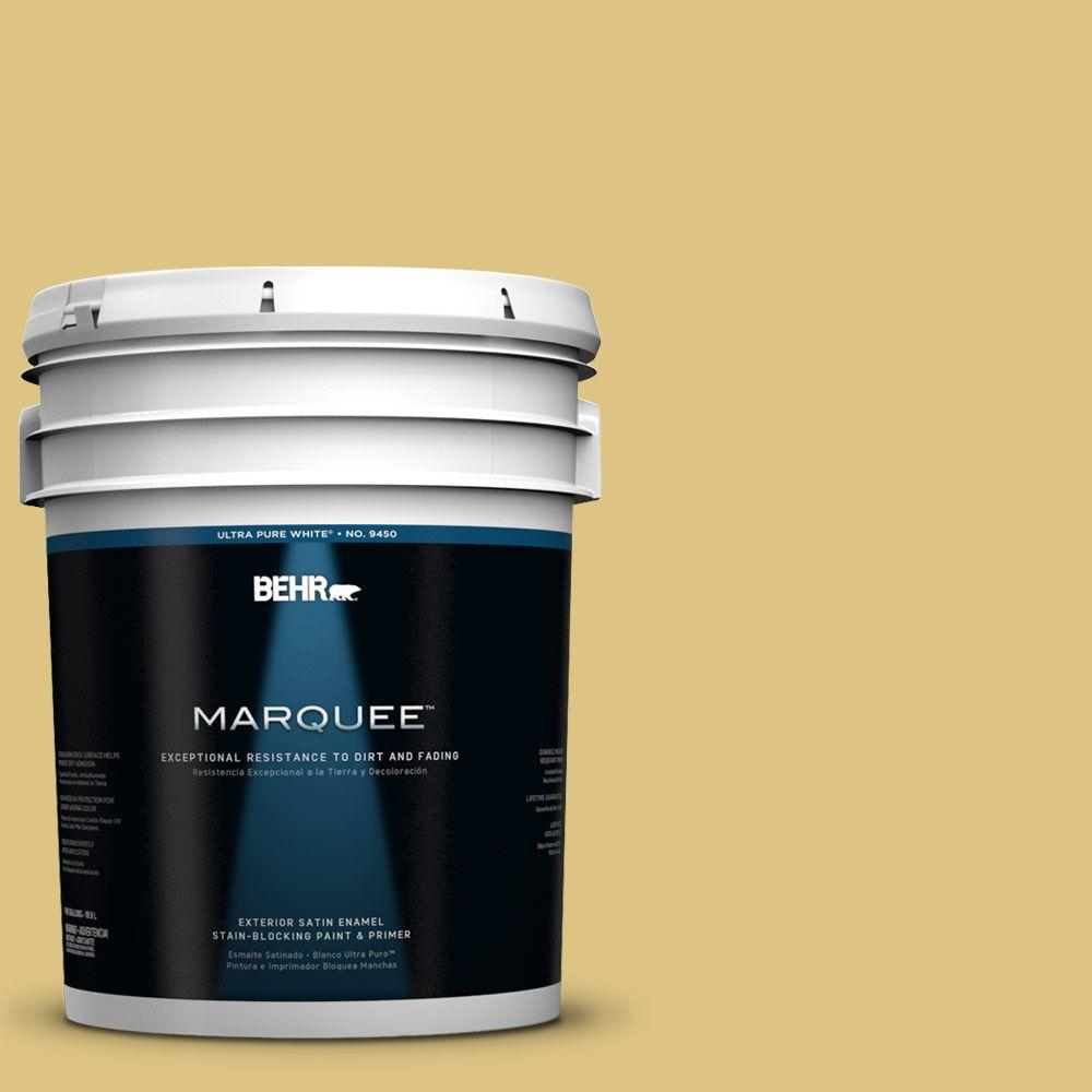 BEHR MARQUEE 5-gal. #390D-5 Sea Kelp Satin Enamel Exterior Paint