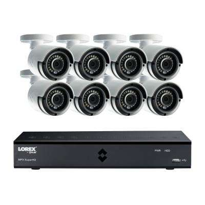 8-Channel SuperHD 4MP 2TB HDD Surveillance DVR System with 8 Indoor/Outdoor Wired Cameras and Remote View