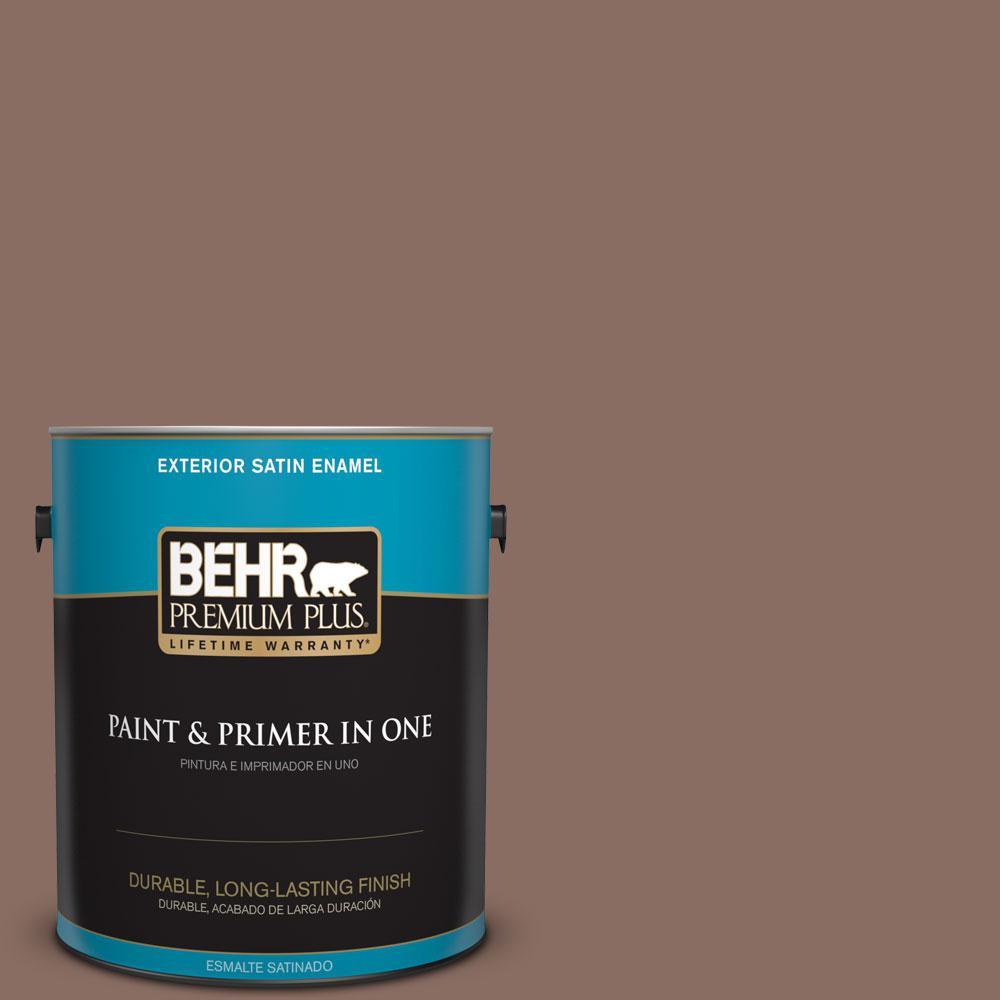 1-gal. #N150-5 French Truffle Satin Enamel Exterior Paint