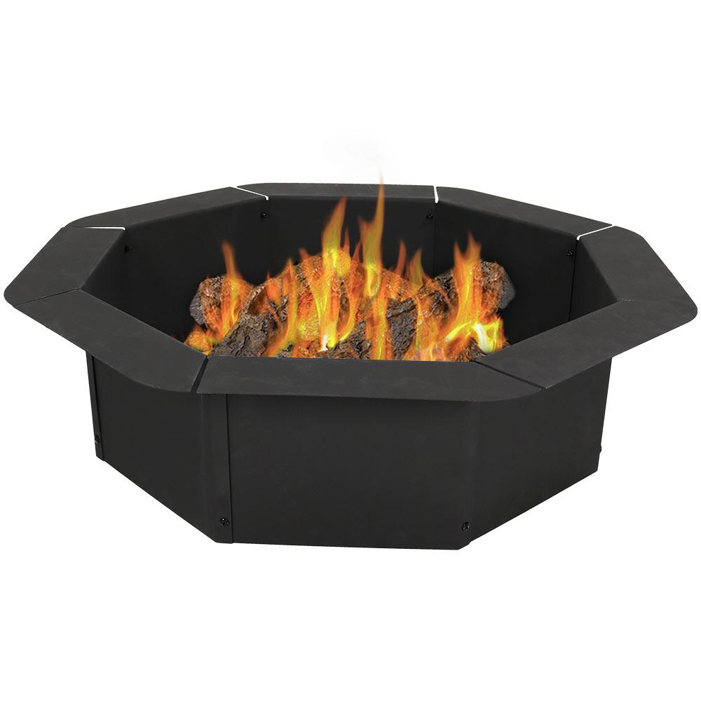 30 in. Round Steel Wood Burning Fire Pit Kit