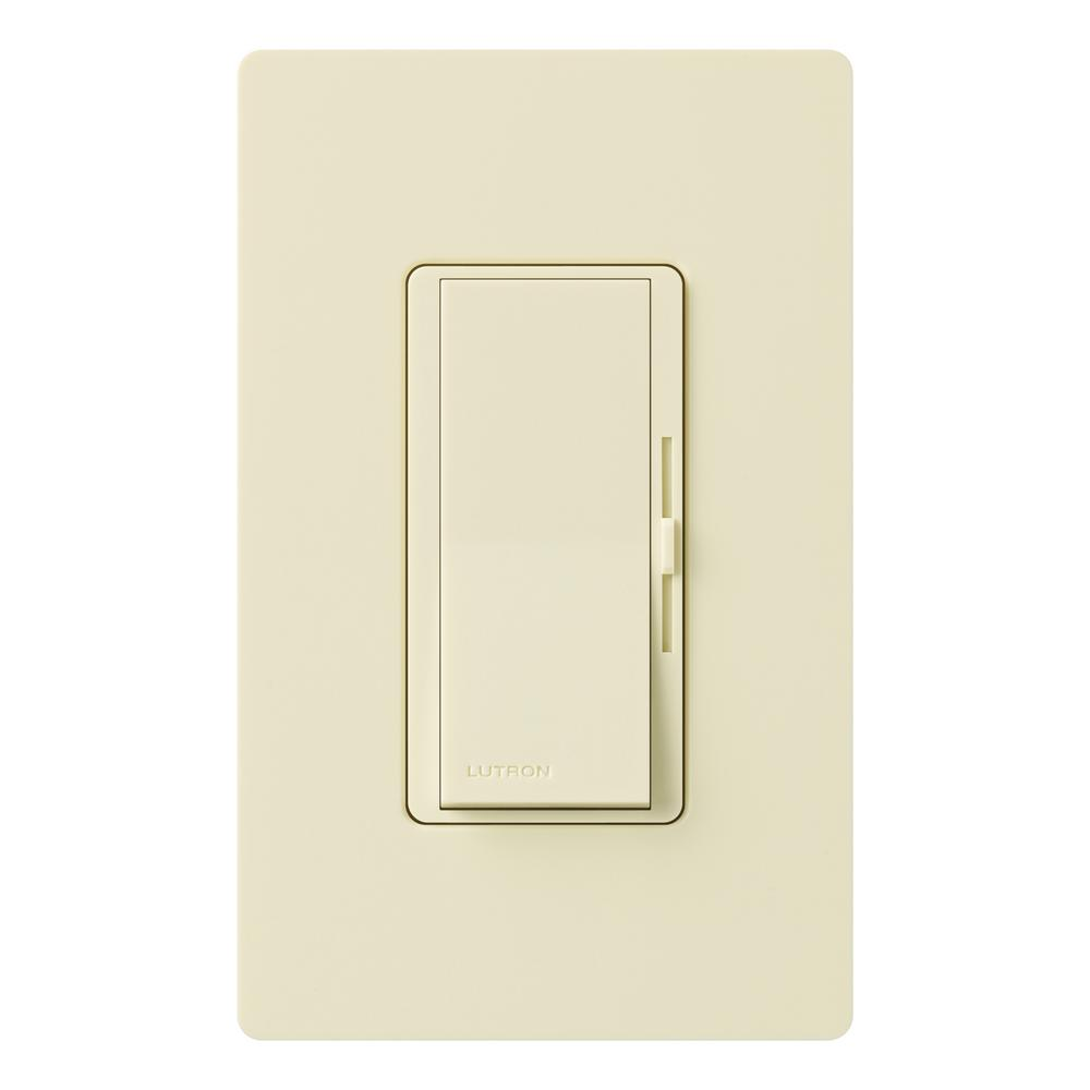 Diva 150-Watt Single-Pole/3-Way CFL-LED Dimmer with Wallplate, Almond