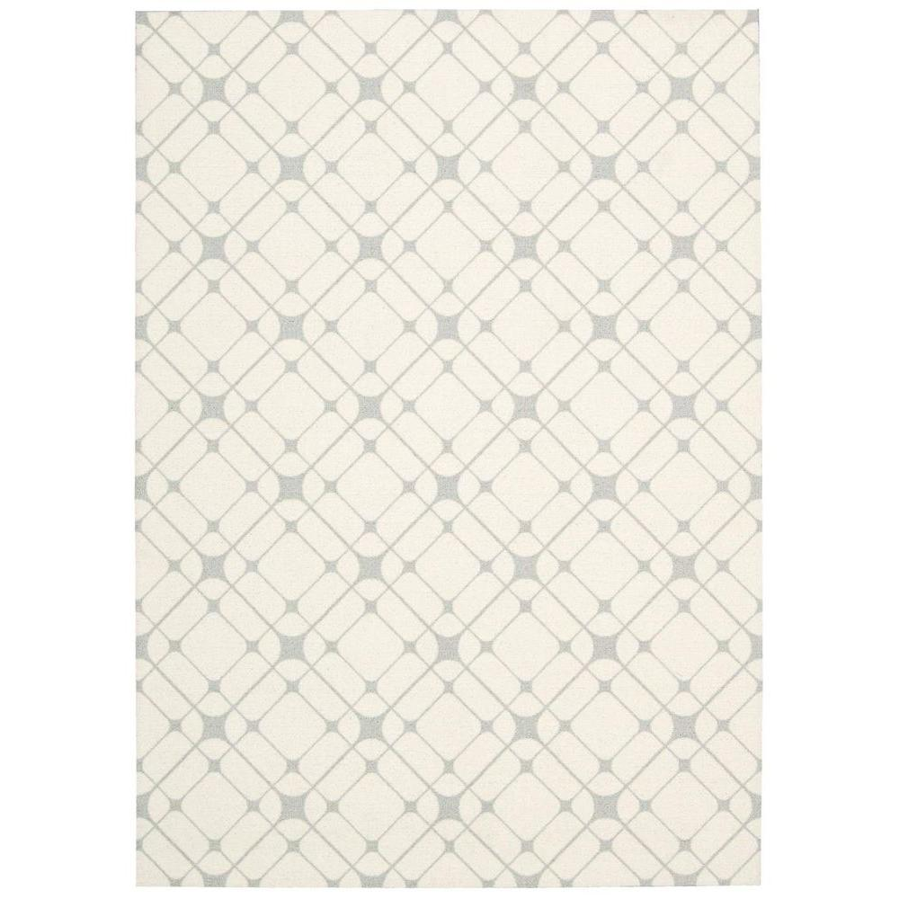 Nourison Enhance Ivory Grey 8 ft. x 10 ft. Area Rug