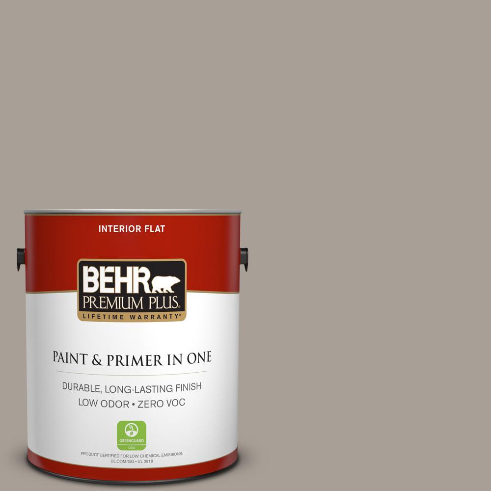 1 gal. #PPU24-09 True Taupewood Zero VOC Flat Interior Paint