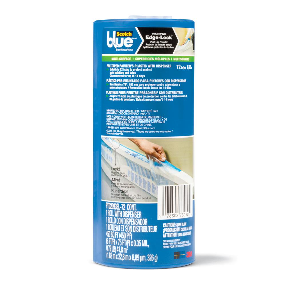 ScotchBlue 6 ft. x 75 ft. Pre-Taped Painter's Plastic with Cutter