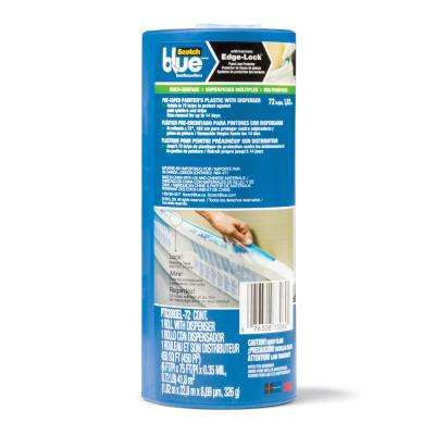 ScotchBlue 6 ft. x 75 ft. Pre-Taped Painter's Plastic with Cutter (Case of 6)