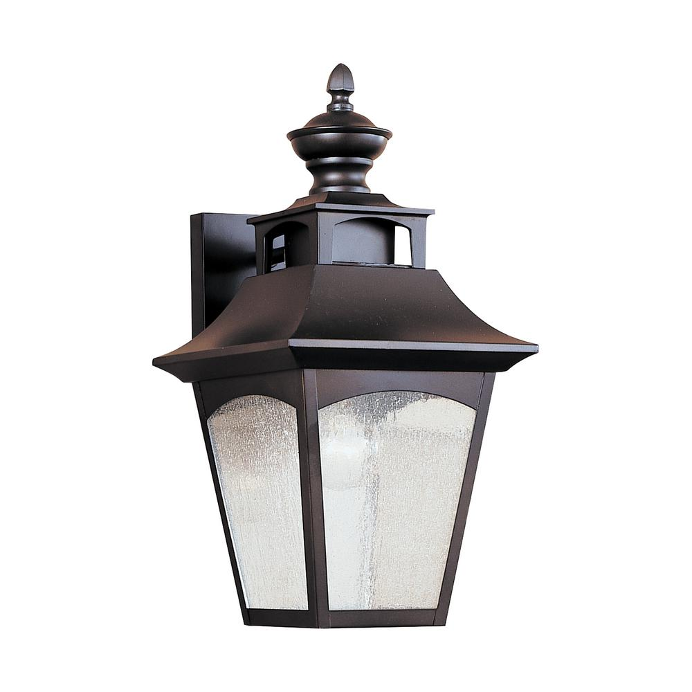 Feiss Homestead 1-Light Oil-Rubbed Bronze Outdoor Wall Lantern