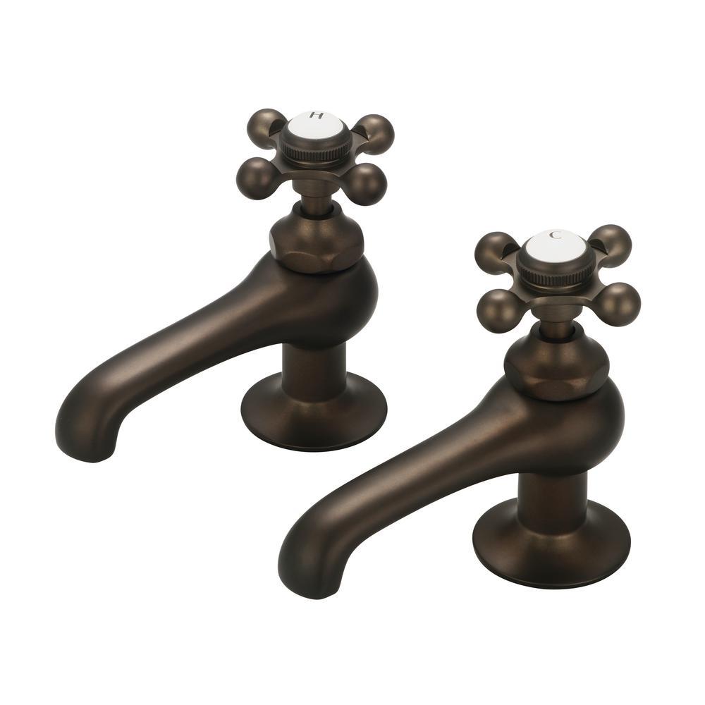 Water Creation 8 in. Widespread 2-Handle Basin Cocks Bathroom Faucet in Oil Rubbed Bronze
