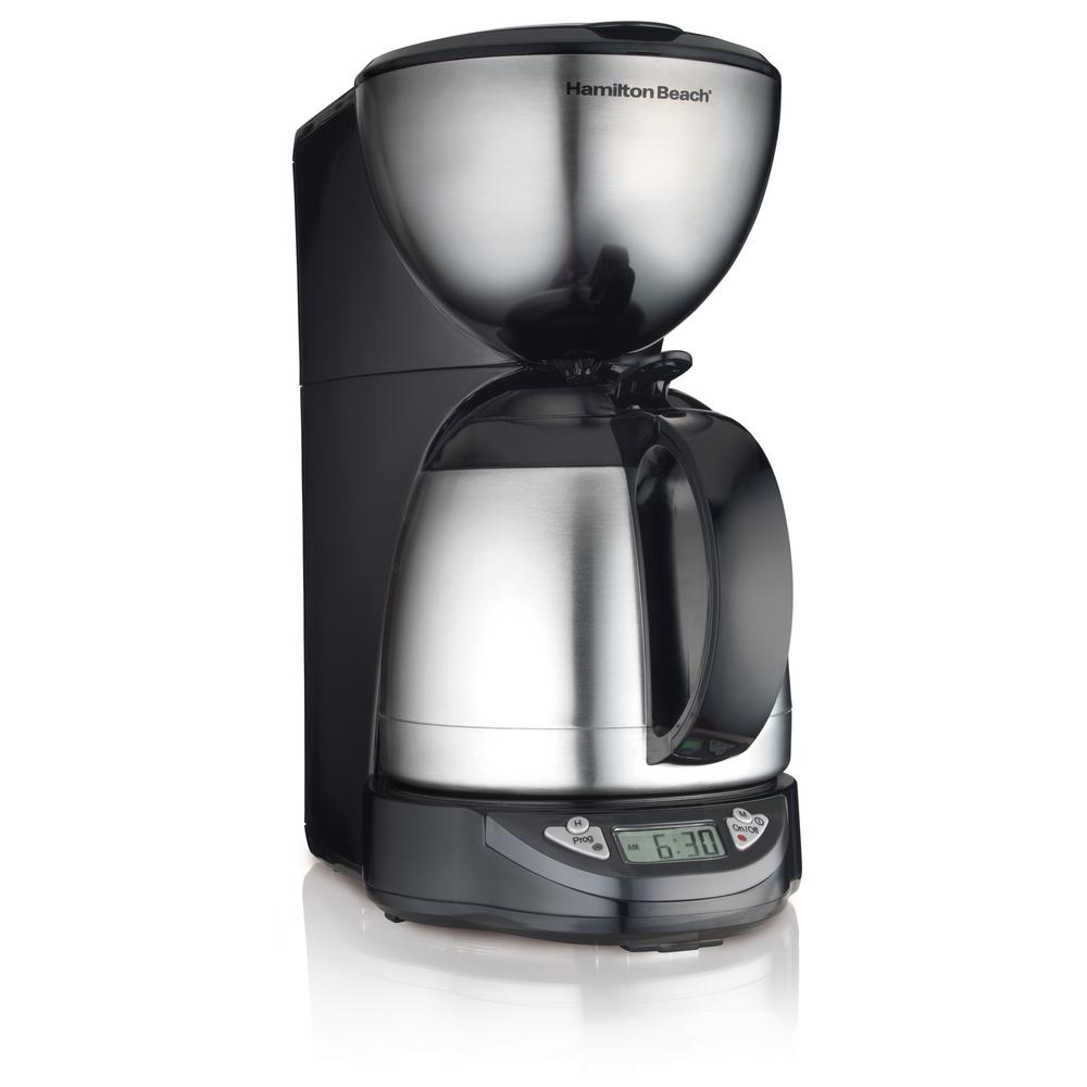 Hamilton Beach Programmable Thermal 10 Cup Coffee Maker 49855 The
