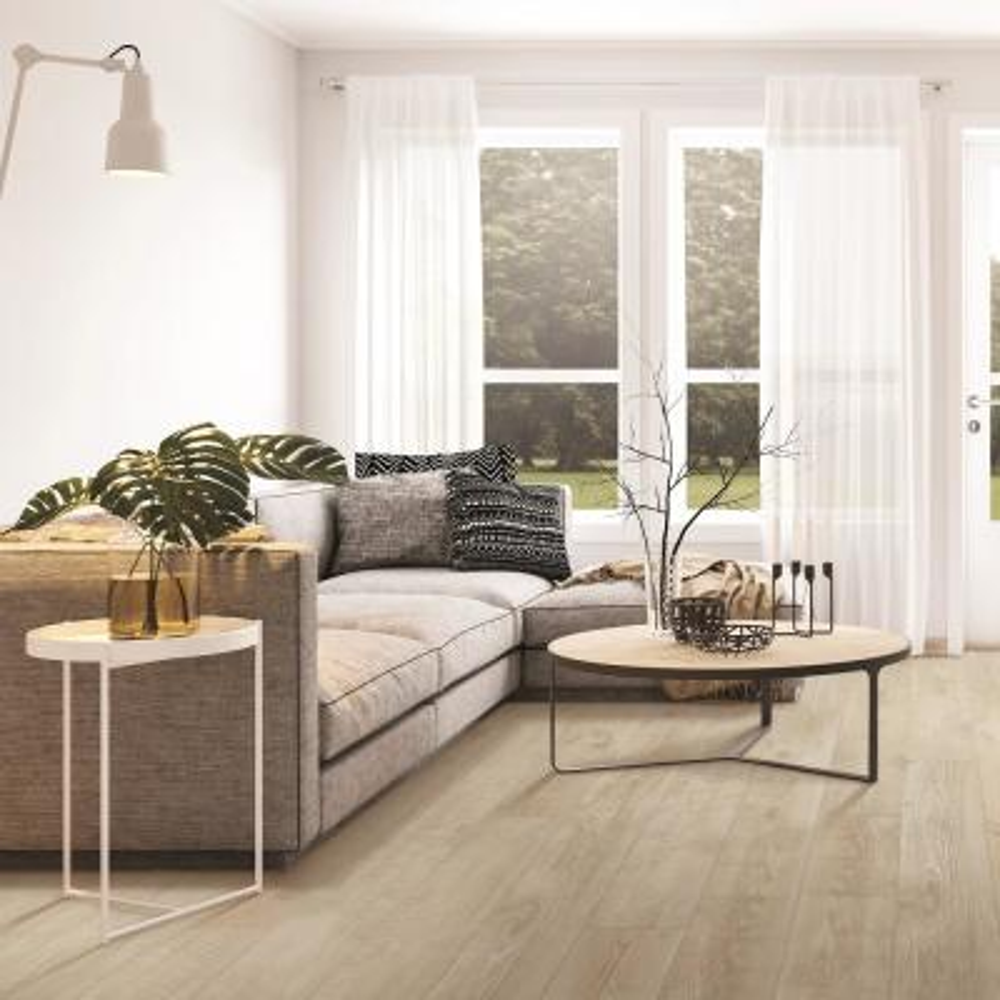 Outlast+ Waterproof Chalked Abiding Pine 10 mm T x 7.48 in. W x 47.24 in. L Laminate Flooring (19.63 sq. ft. / case)