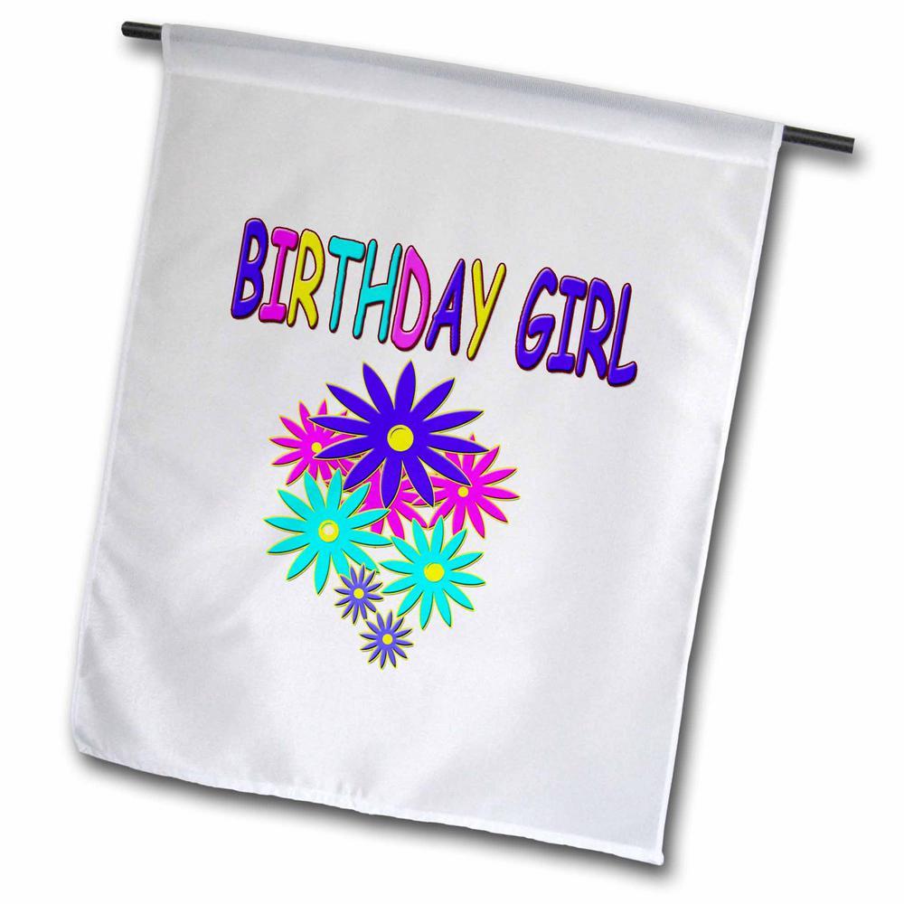 Birthday 1 ft. x 1-1/2 ft. Birthday Girl Flag