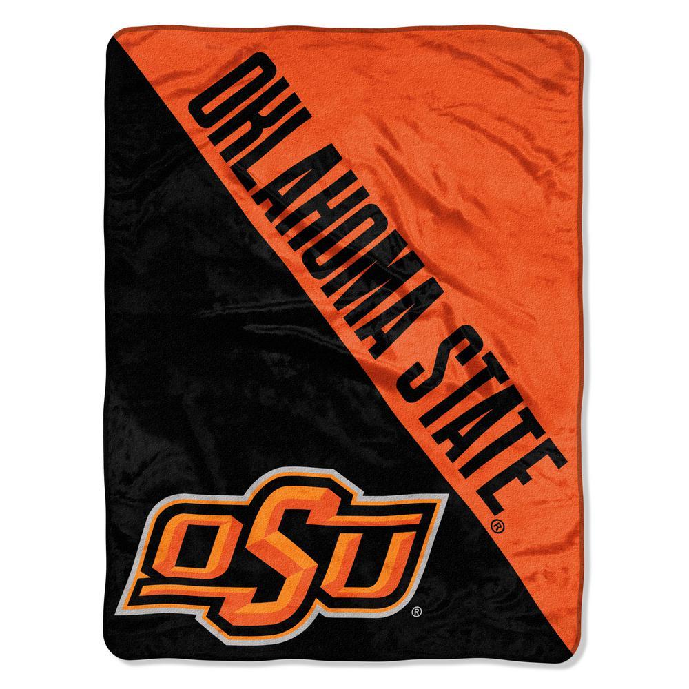 Oklahoma State Multi Color Polyester Halftone Micro Blanket