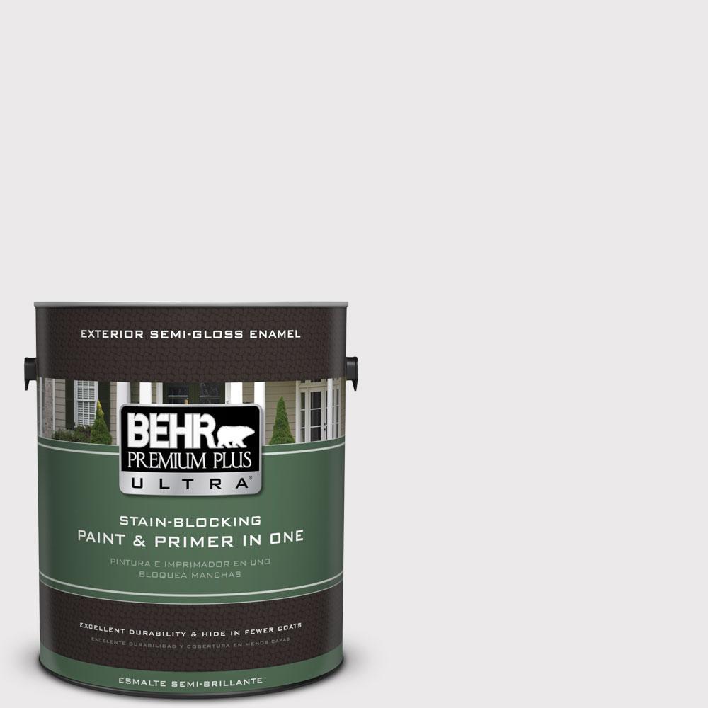BEHR Premium Plus Ultra 1-gal. #W-D-620 Pale Bud Semi-Gloss Enamel Exterior Paint
