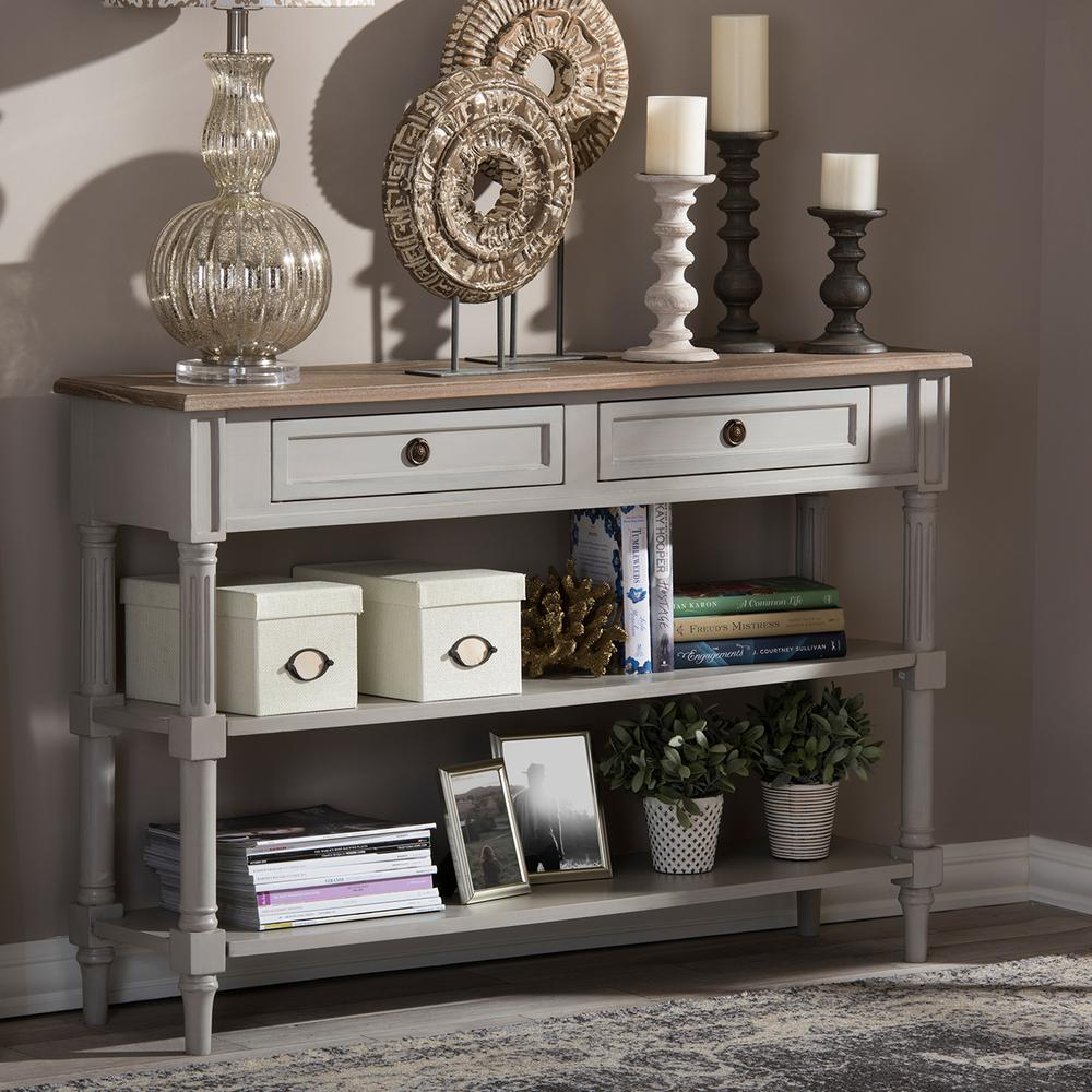 Edouard II French Inspired White Console Table