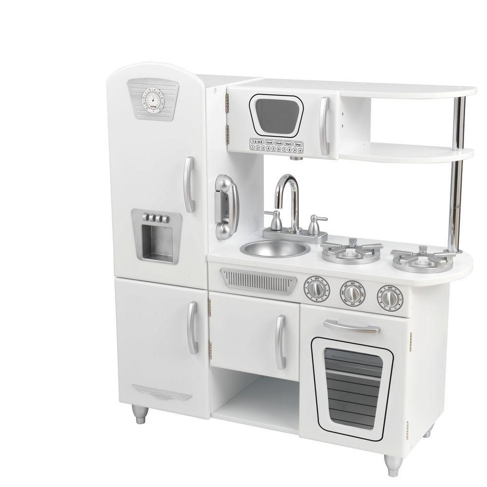 Kidkraft White Vintage Kitchen Playset 53208 The Home Depot