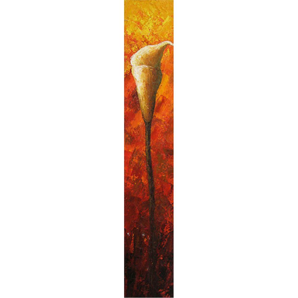 "Yosemite Home Decor 10 in. x 59 in. ""Long Stem Fireside"" Hand Painted Contemporary Artwork"