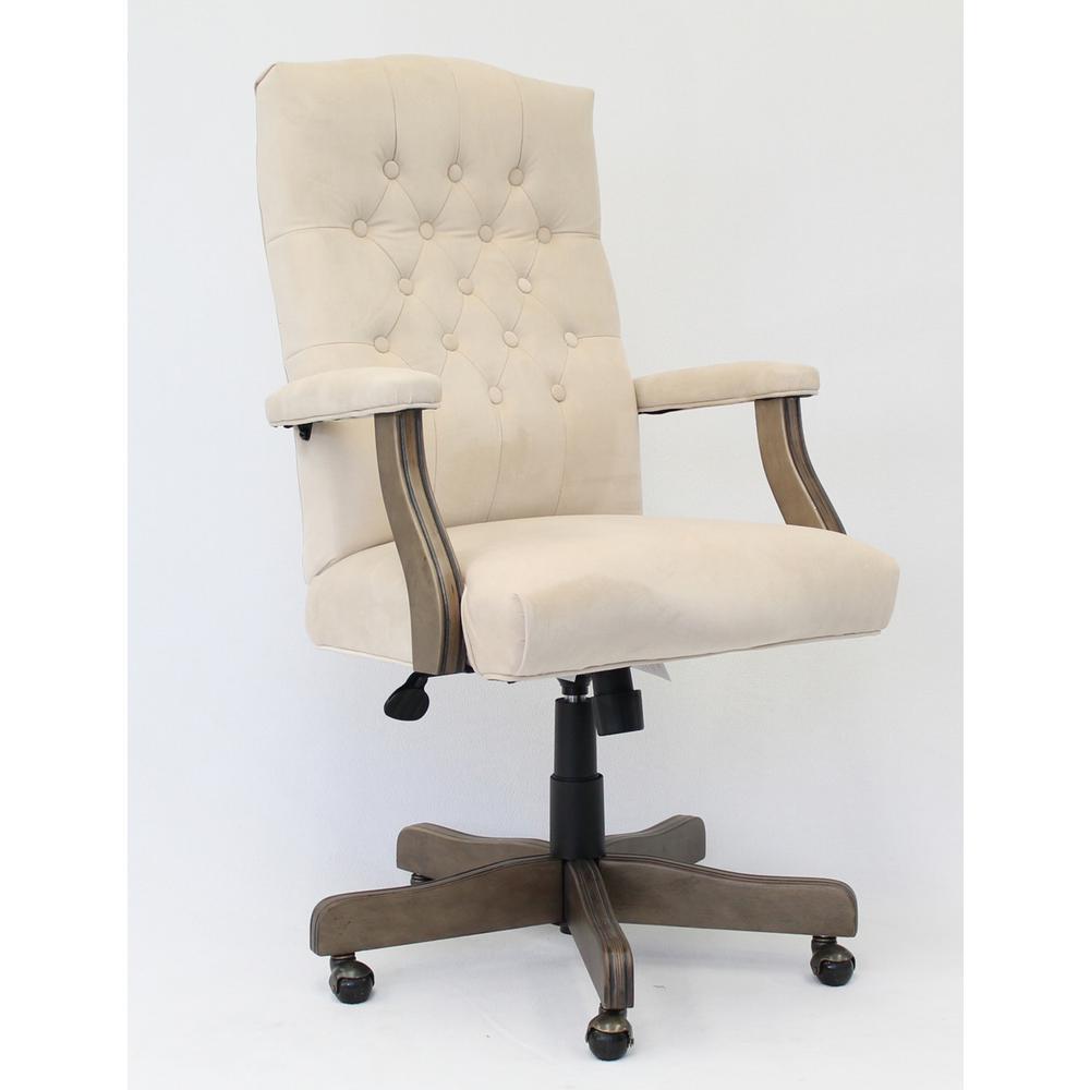 Executive Champagne Velvet Chair