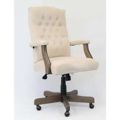 Executive Champagne Velvet Chair