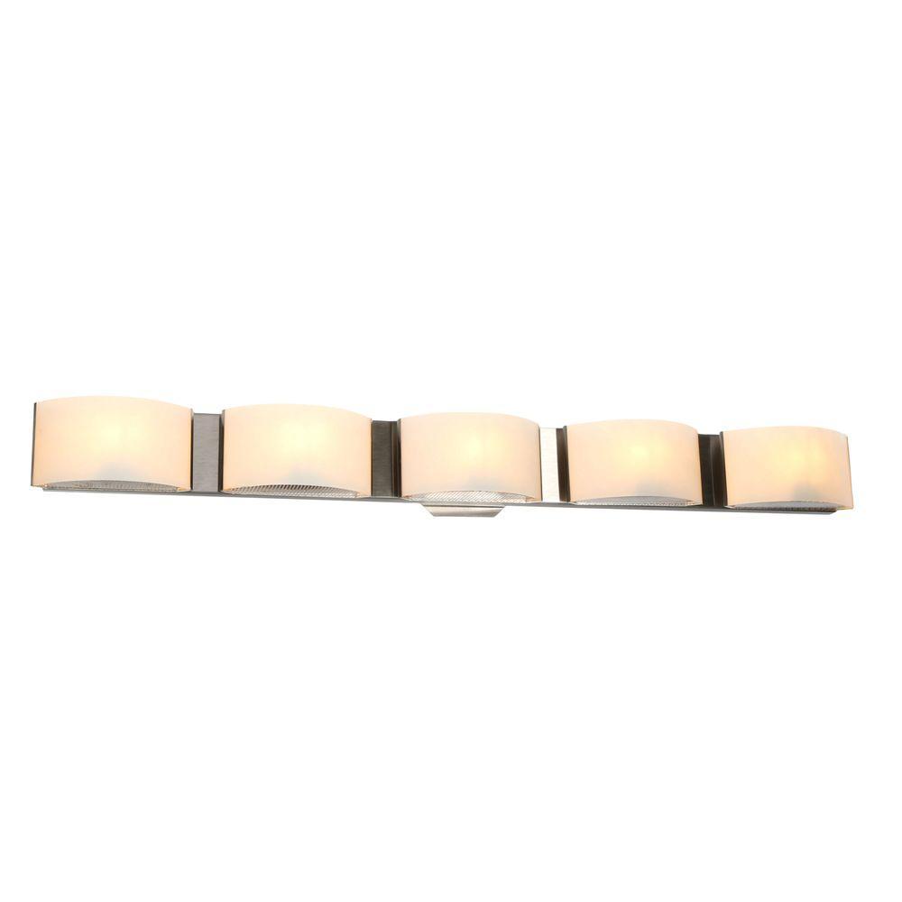 Dakota Collection 5-Light Satin Nickel Wall Sconce