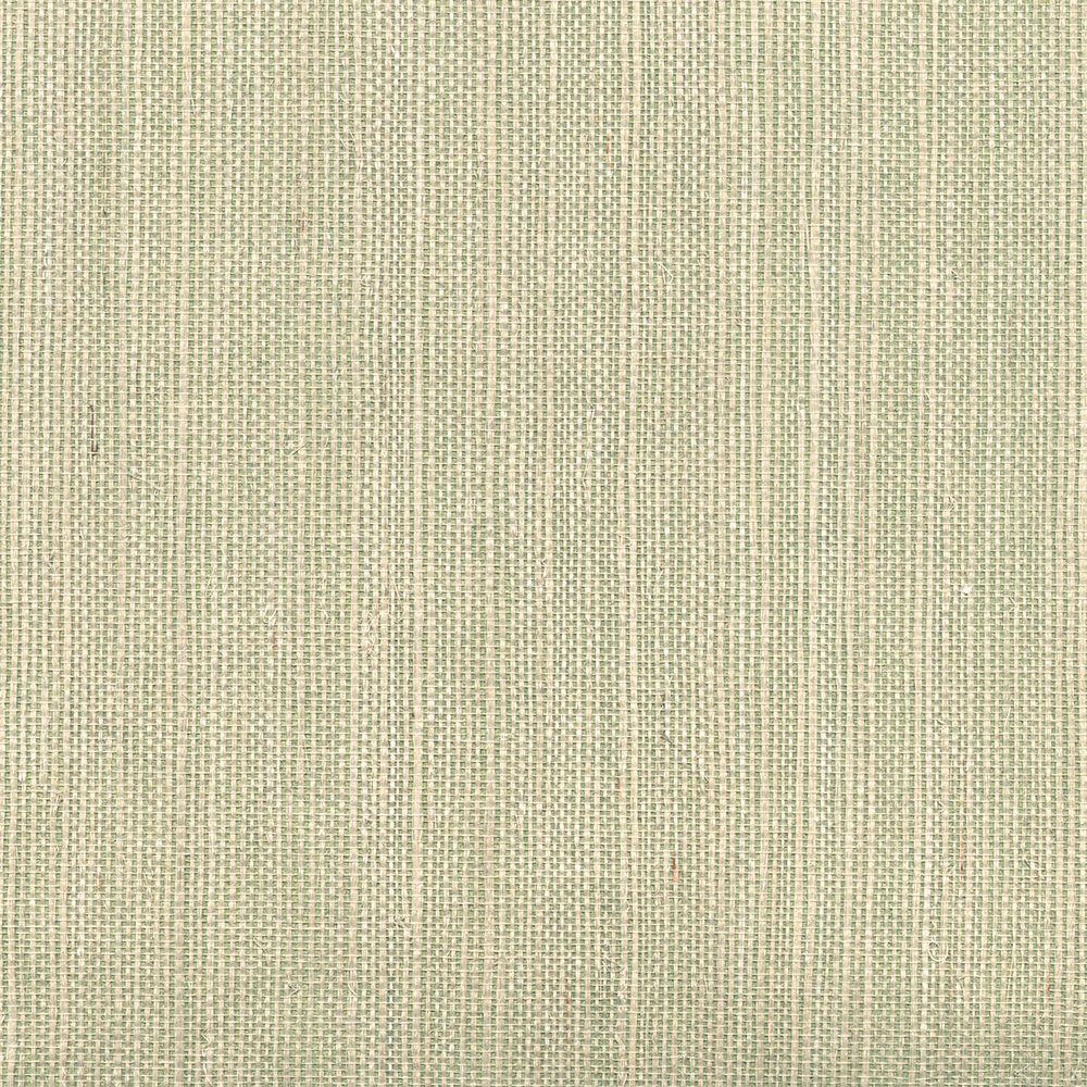 Kenneth James Barbora Light Green Grasscloth Wallpaper Sample 2622-30227SAM