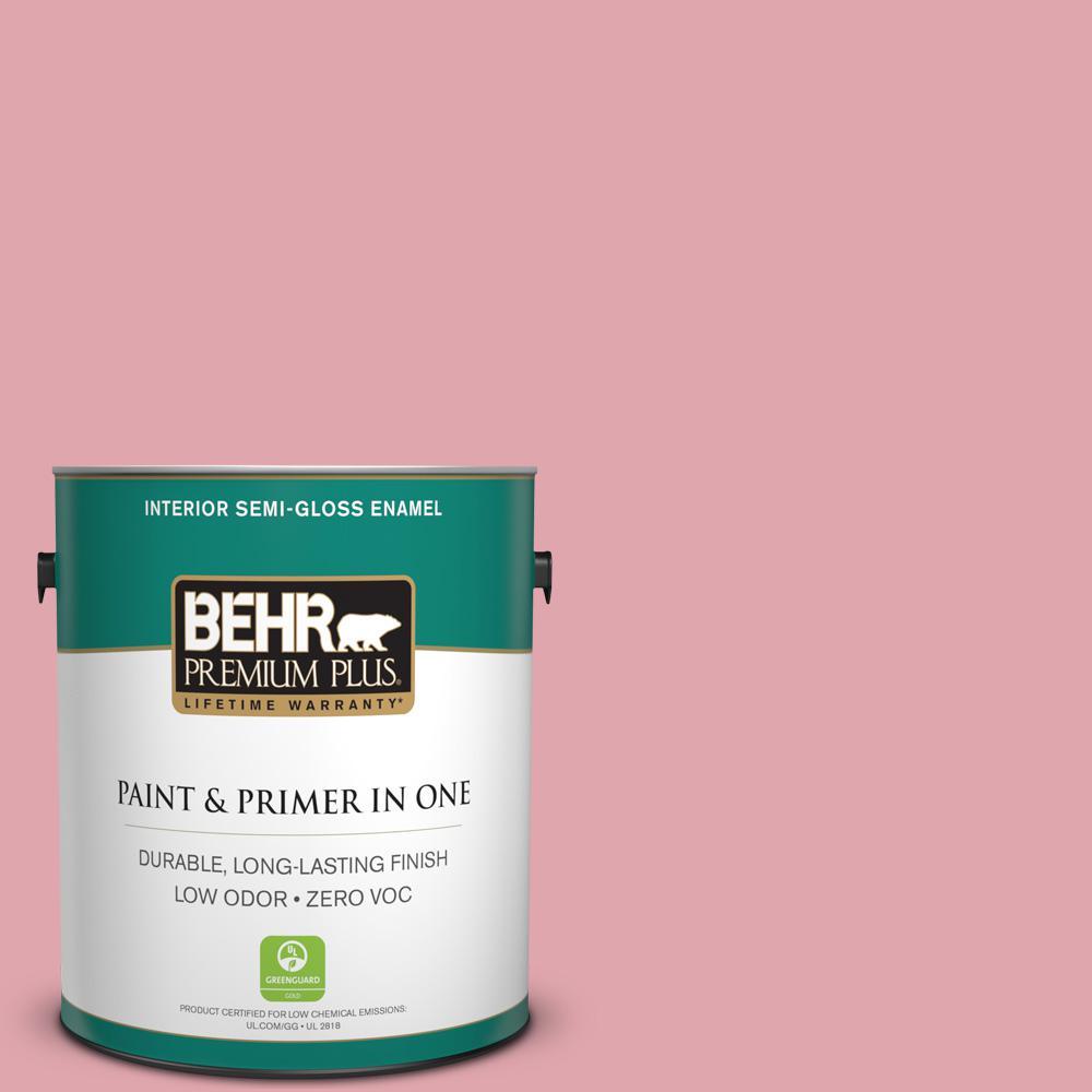 1-gal. #M150-3 Apple Blossom Semi-Gloss Enamel Interior Paint