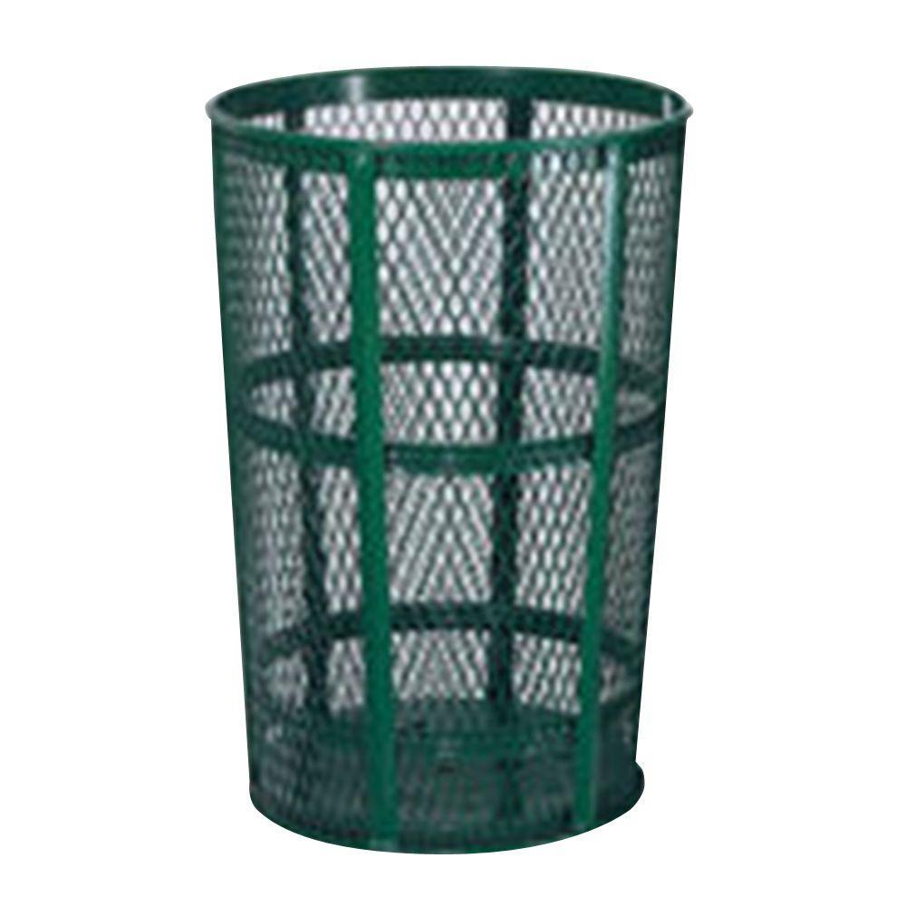 45 Gal. Green Round Street Trash Can