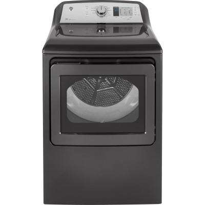 7.4 cu. ft. 240-Volt Diamond Gray Electric Vented Dryer, ENERGY STAR