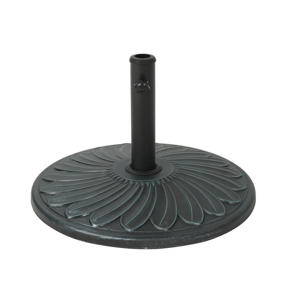 Wayne 56.57 lbs. Concrete Patio Umbrella Base in Weathered Bronze