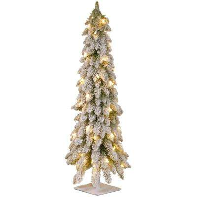 4 ft snowy downswept forstree artificial christmas tree - 4 Ft White Christmas Tree