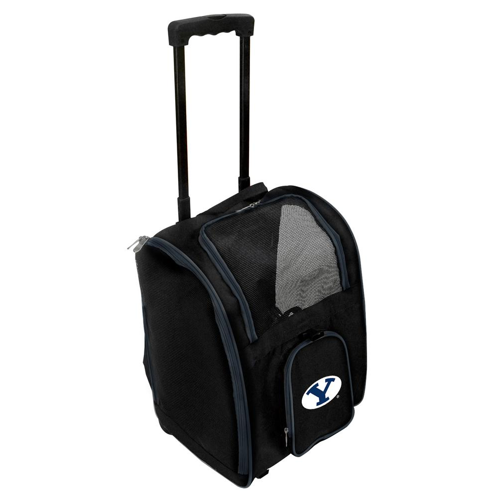 NCAA Brigham Young Cougars (BYU) Pet Carrier Premium Bag with wheels