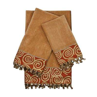 Swirley Nugget Embellished Towel Set (3-Piece)