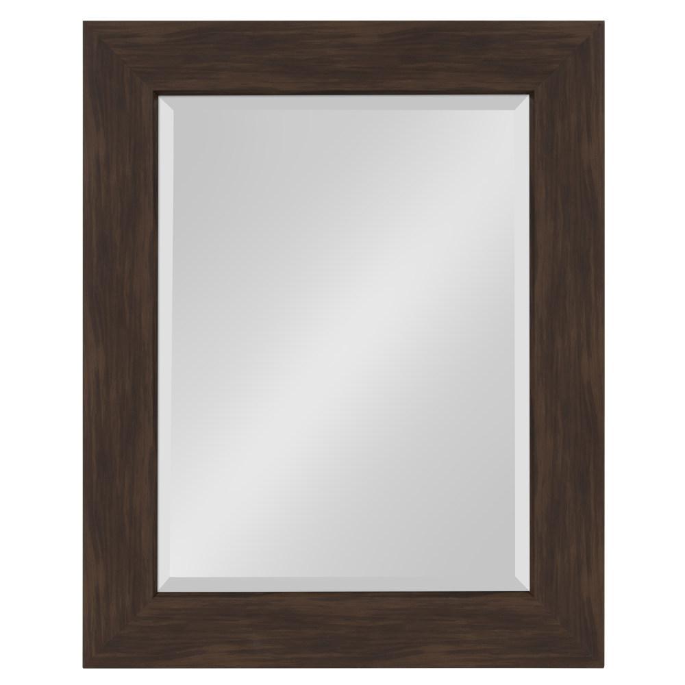 Boardwalk Rectangle Walnut Brown Accent Mirror