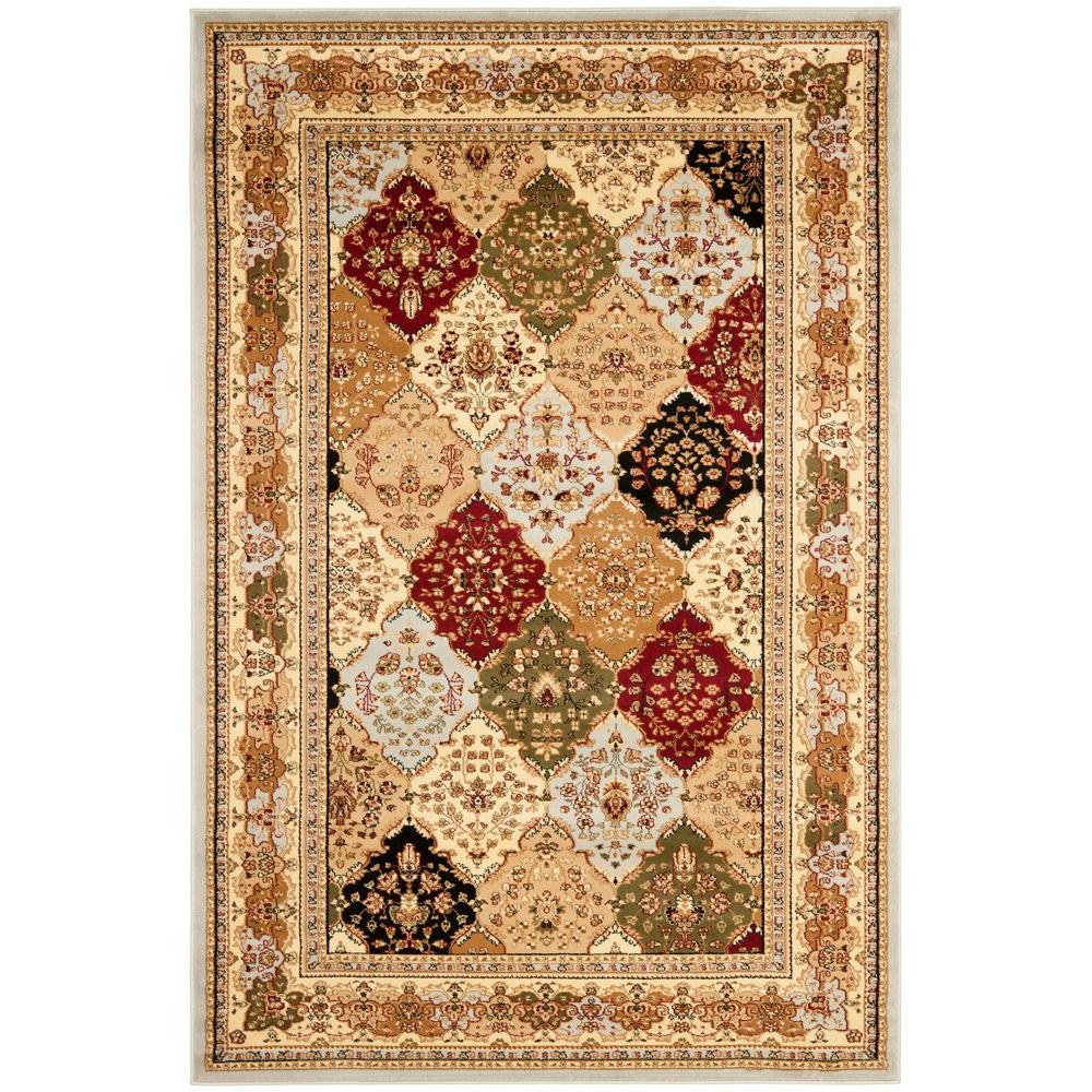 Lyndhurst Gray/Multi 6 ft. x 9 ft. Area Rug