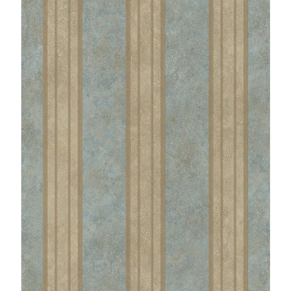 Chesapeake Sweetwater Aqua (Blue) Tuscan Stripe Wallpaper