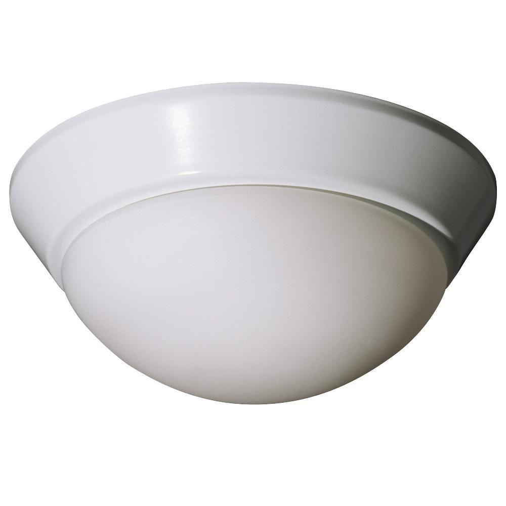 Filament Design Negron 1-Light White Incandescent Flush Mount