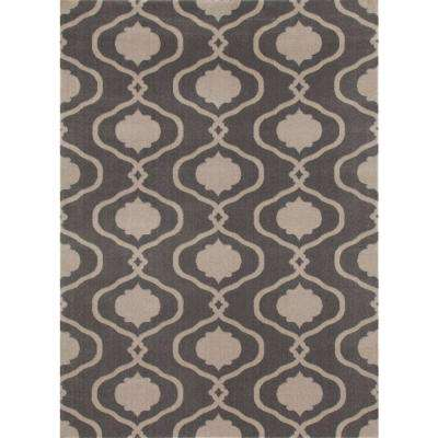 Moroccan Trellis Modern Gray 5 ft. x 7 ft. Area Rug