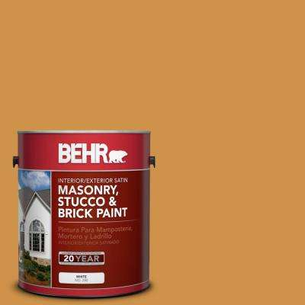 1 gal. #M260-6 Sweet Mustard Satin Interior/Exterior Masonry, Stucco and Brick Paint