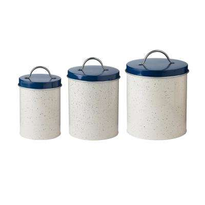 Milk Street 3-Piece Metal Storage Canister Set with Speckled
