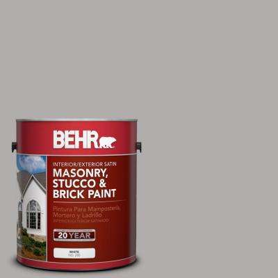 1 gal. #MS-81 Crater Gray Satin Interior/Exterior Masonry, Stucco and Brick Paint