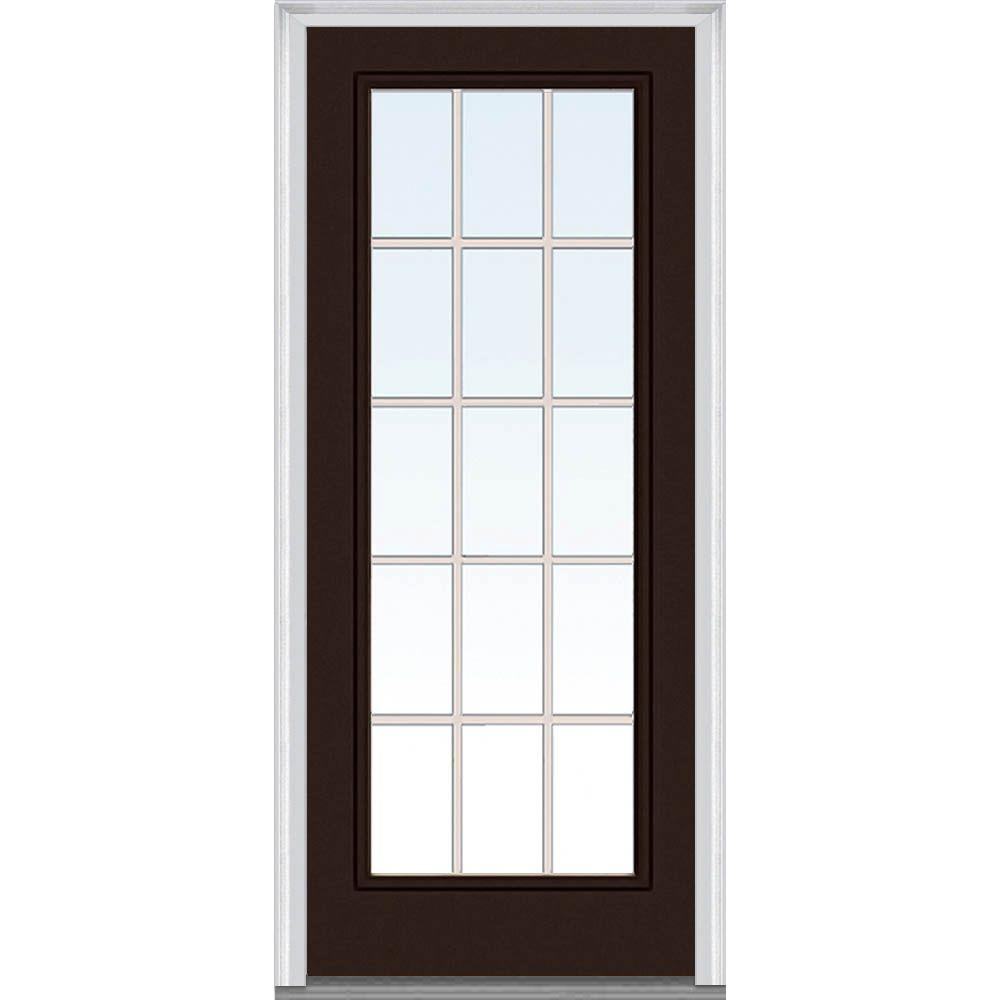 Mmi Door 32 In X 80 Internal Grilles Right Hand Inswing Full