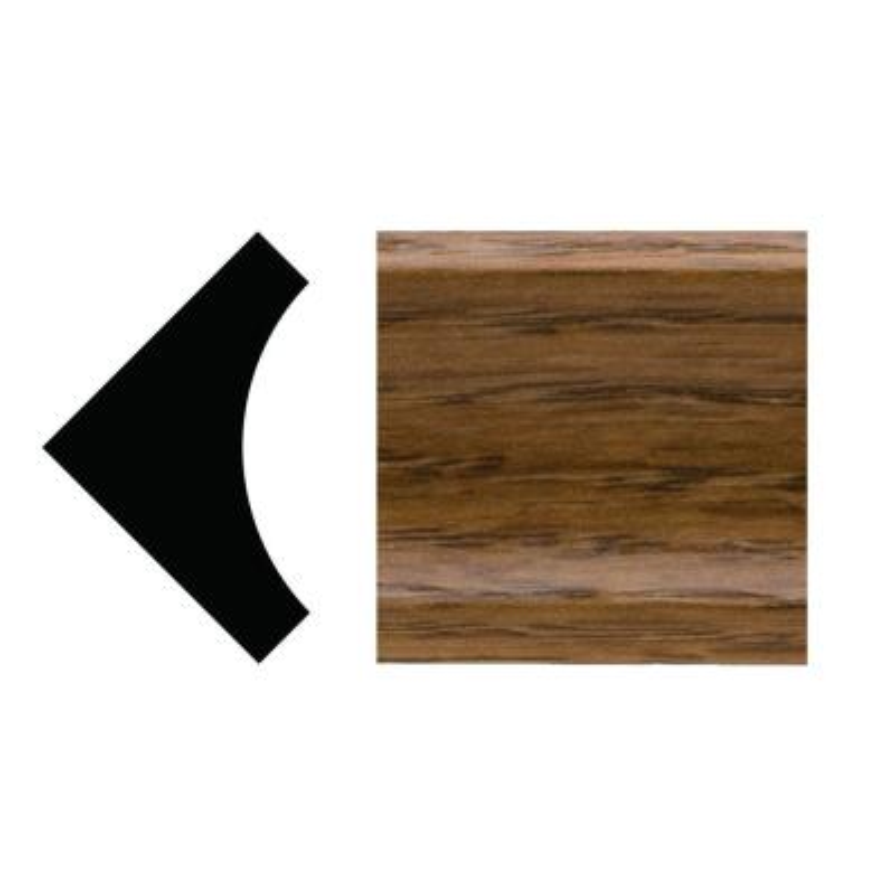5093 - 3/4 in. x 3/4 in. x 96 in. PVC Composite Inside Corner Highlands Oak Moulding