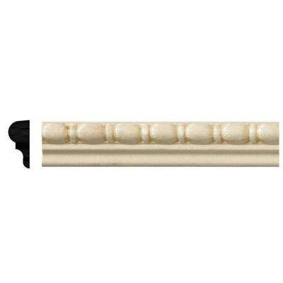 5/16 in. x 11/16 in. x 96 in. White Hardwood Embossed Bead and Reel Moulding